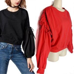 Kensie Jeans Balloon Sleeve Sweatshirt Sz M